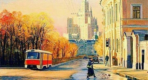 Москва Покровский бульвар и Яузский бульвар